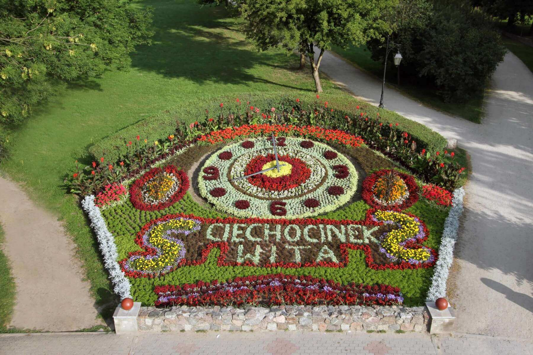 ciechocinek - Zegar kwiatowy